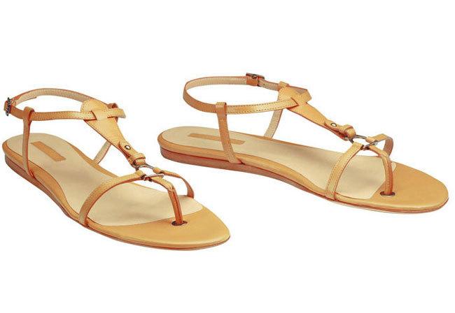 Longchamp sandalias piel