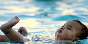 ¡Bebé al agua!