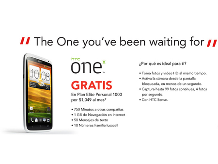 HTC One X llega a Iusacell
