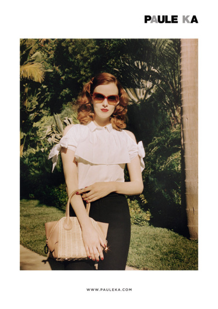 Karen Elson protagonista de la campaña Primavera-Verano 2014 de Paule Ka