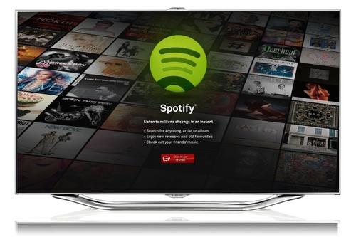 SpotifyllegaalostelevisoresdelamanodeSamsungysusSmartTV