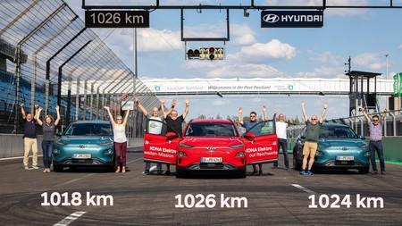El Hyundai Kona consigue un nuevo récord de autonomía eléctrica: 1.026 kilómetros, aunque con truco