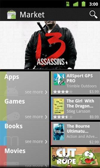 Google renueva Android Market, añade libros y películas