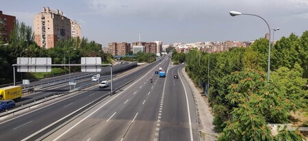 Protests against the veto of unlabeled cars in Madrid