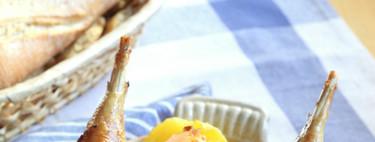 Receta de faisán relleno de manzana y foie