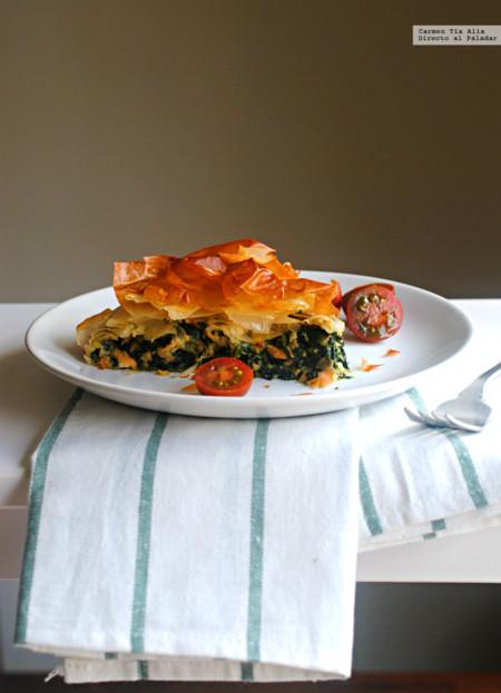 Recetas para toda la familia: Tarta salada de salmón, espinacas y queso, Devil´s Food Cake y más cosas ricas