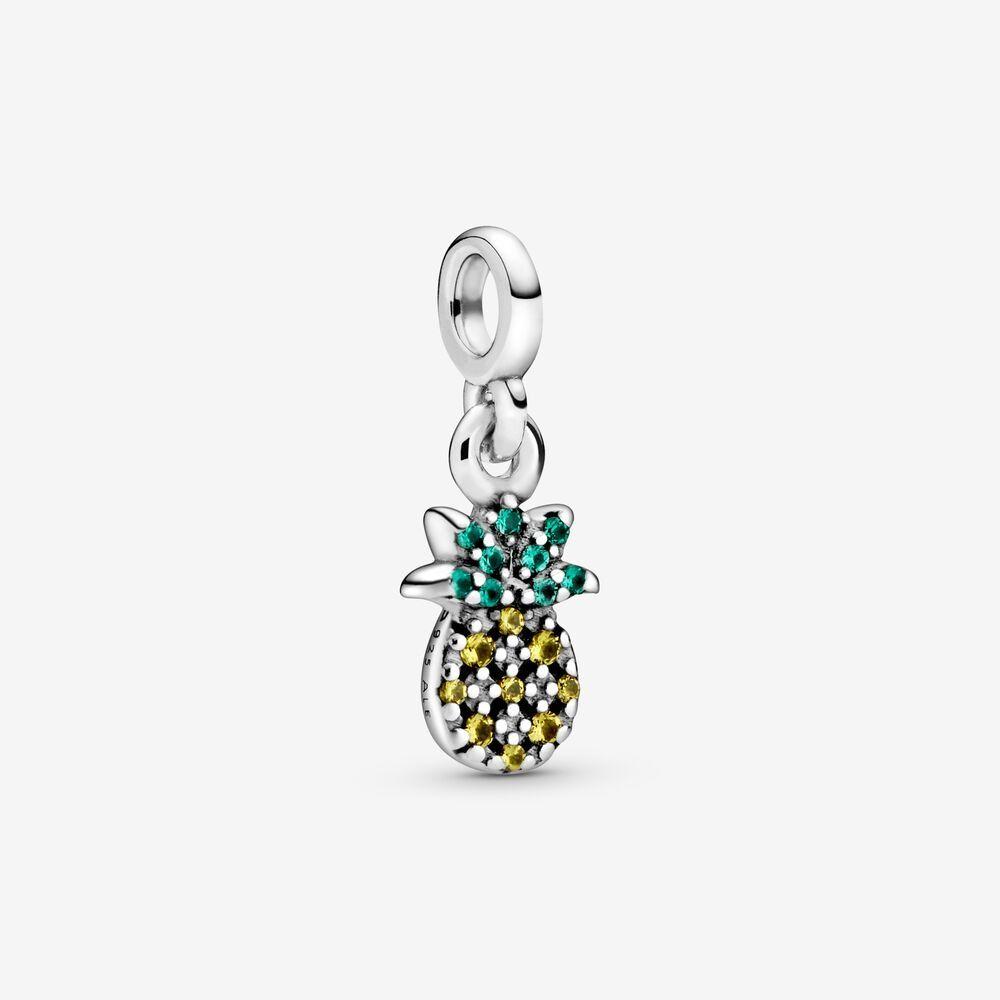 Charm con forma de piña y cristales de Pandora