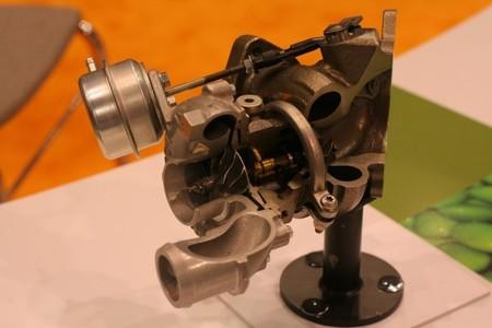 Turbocompresor cortado