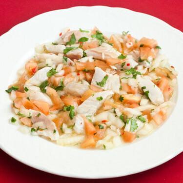 Ceviche de lubina y chile thai, receta veraniega