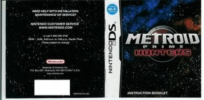 Metroid Prime: Hunters, manual escaneado