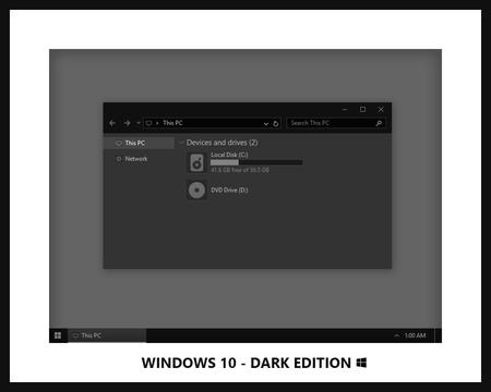 Windows 10 Dark Edition By Neiio D9ewn1c