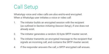 Call Setup Whatsapp Cifrado Llamadas