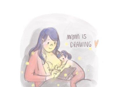 Una madre comparte su experiencia con la lactancia materna a través de preciosas ilustraciones
