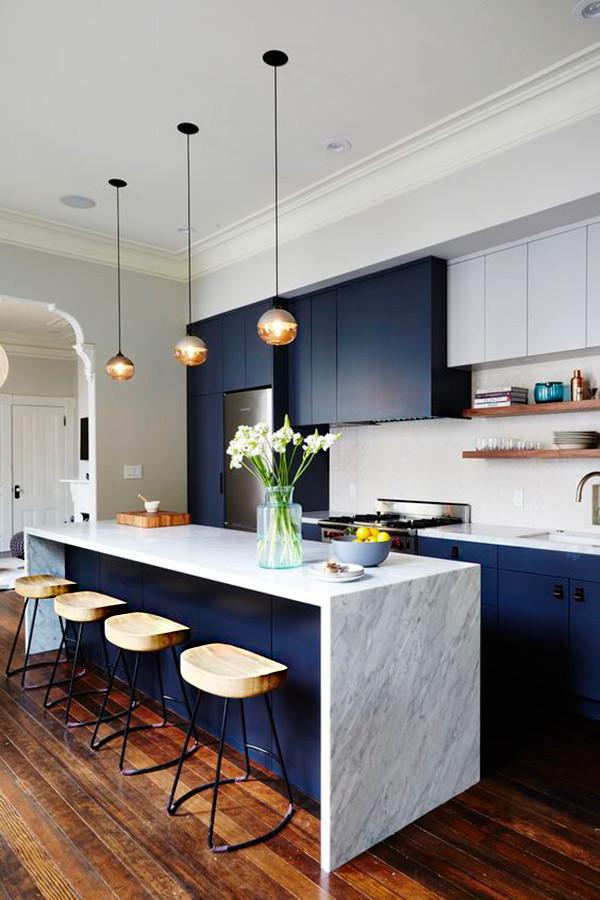 Muebles Azules Cocina 6