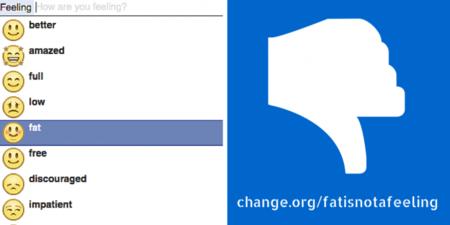 """""""Me siento gordo"""", el emoticono de Facebook que encendió la polémica [actualizado]"""