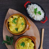 Pollo en salsa de mango al curry. Receta
