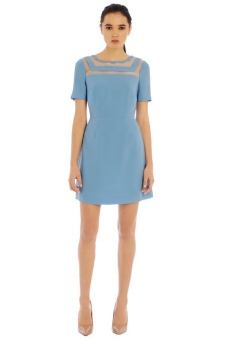 Vestidos de fiesta cortos azul cielo