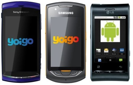 Precios nuevos teléfonos en mayo con Yoigo: Sony-Ericsson Vivaz y Samsung Onix entre otros