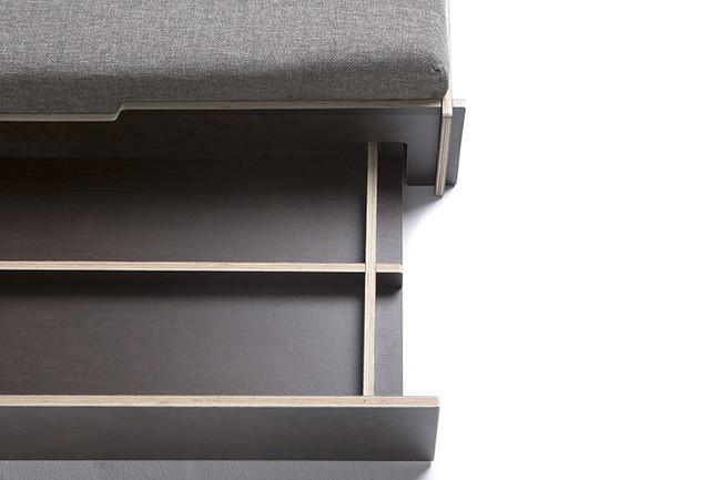 Hanniko Design Customize Odin Dog Bed Wood Drawer Open Detail 2