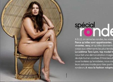 Una modelo de tallas grandes, portada del Elle francés