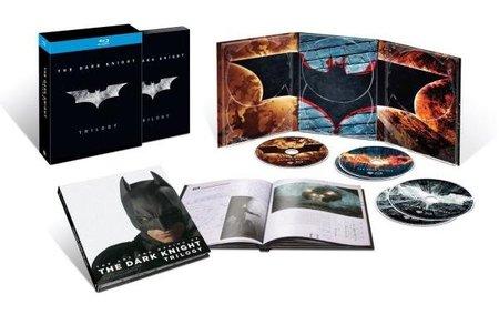 Imagen con el pack de la trilogía Batman en blu-ray