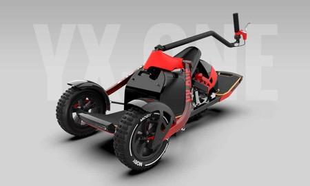 El YX One concept es un patinete eléctrico todoterreno con tres ruedas que se conduce inclinando el cuerpo