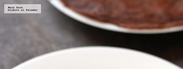 Crepas de chocolate rellenas de crema a la menta. Receta