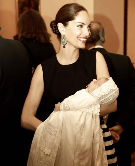 Look de Eugenia Silva en el bautizo de su hijo