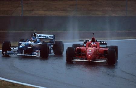 Schumacher Villeneuve Spain
