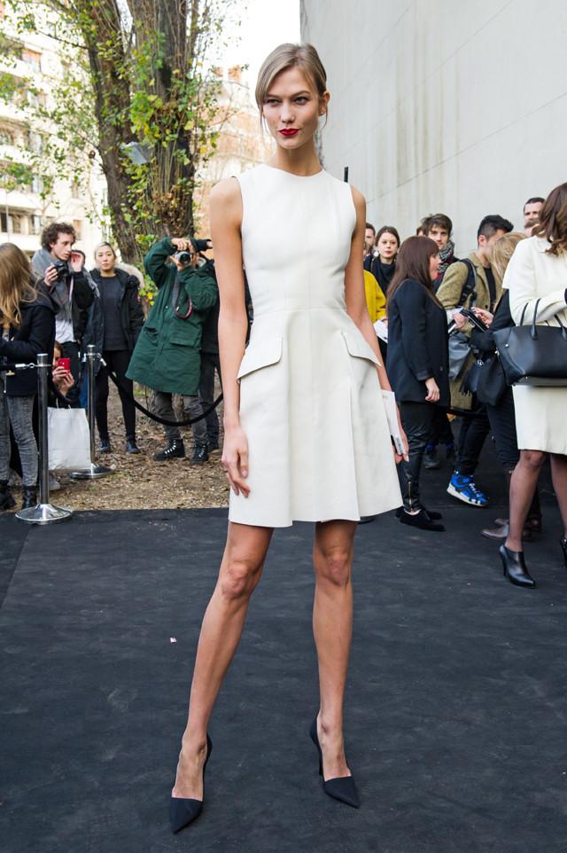Karlie Kloss en el desfile de Dior men
