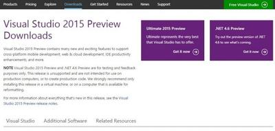 Ya disponible Visual Studio 2015 Preview, con emulador de Android y otras novedades