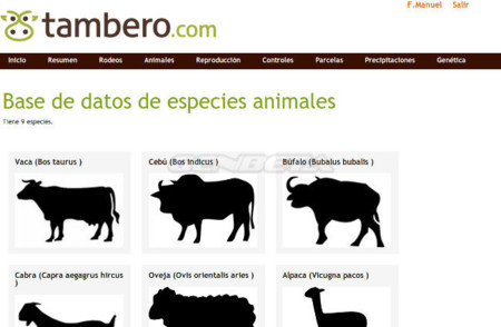 Tambero.com, especies