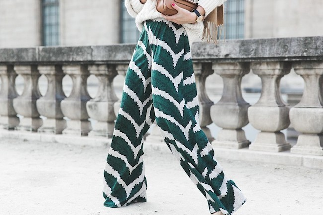 Palazzo Trousers Maje Knitwear Scarf Proenza Schouler Outfit Street Style 44 790x527