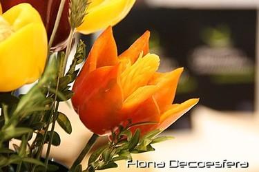 Hemos visto... centros de flores hechas con hortalizas