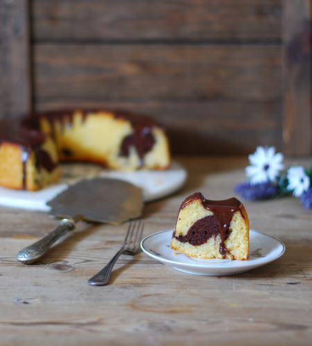 Chocolate Marble Cake Recipe Receta Bizcocho Marmolado Chocolate Dulces Bocados 1