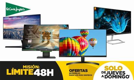 Estos 8 monitores de PC te salen más baratos hasta la medianoche del domingo en el Límite 48 Horas de El Corte Inglés