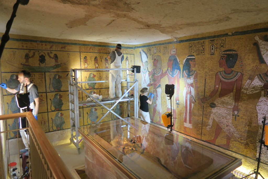 Termina la restauración de la tumba de Tutankamon tras 10 años de trabajos