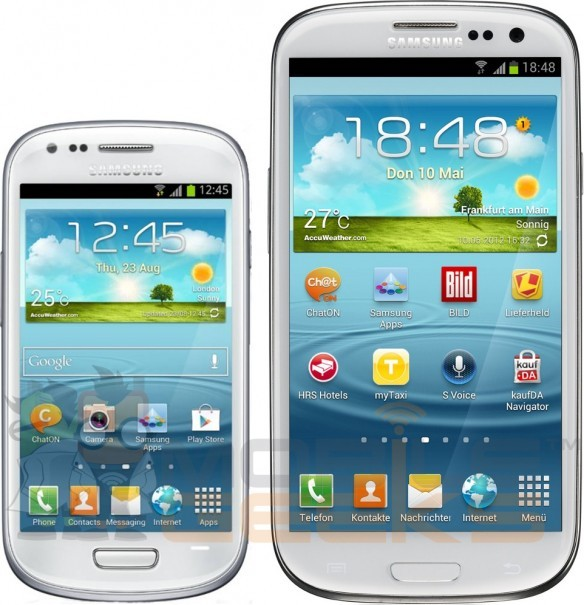 Samsung Galaxy SIII Mini vs Samsung Galaxy Note II