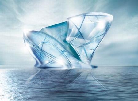 Blue Crystal, el nuevo proyecto arquitectónico en forma de iceberg en la costa de Dubai