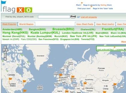 Flagxo, reseñas y puntuación de aeropuertos del mundo