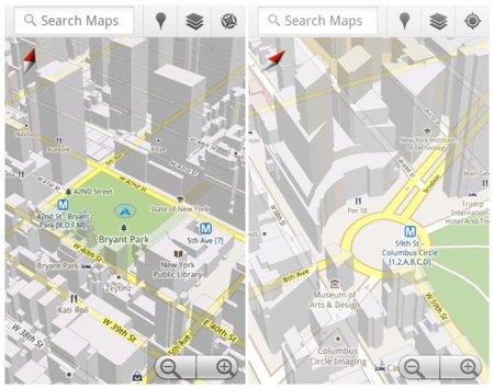 Google Maps 5.0 con mapas 3D ya disponible en el Android Market