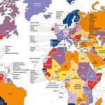 La presencia de la mujer en los gobiernos y parlamentos de todo el mundo, en un mapa