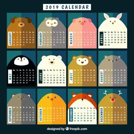 Bonito Calendario 2019 Animales 23 2147783166