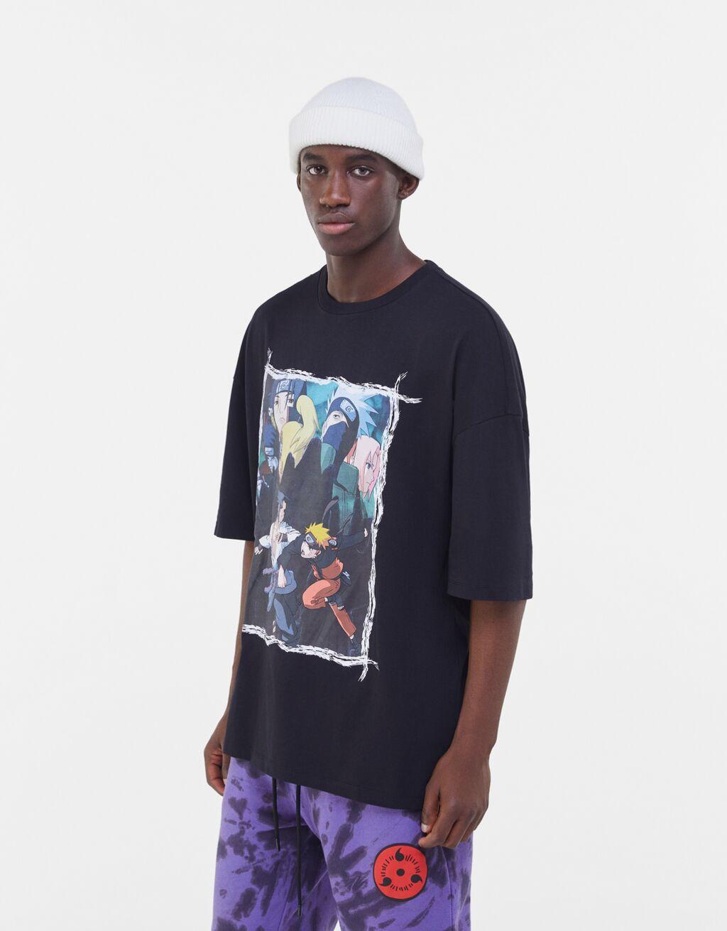 Camiseta negra Naruto