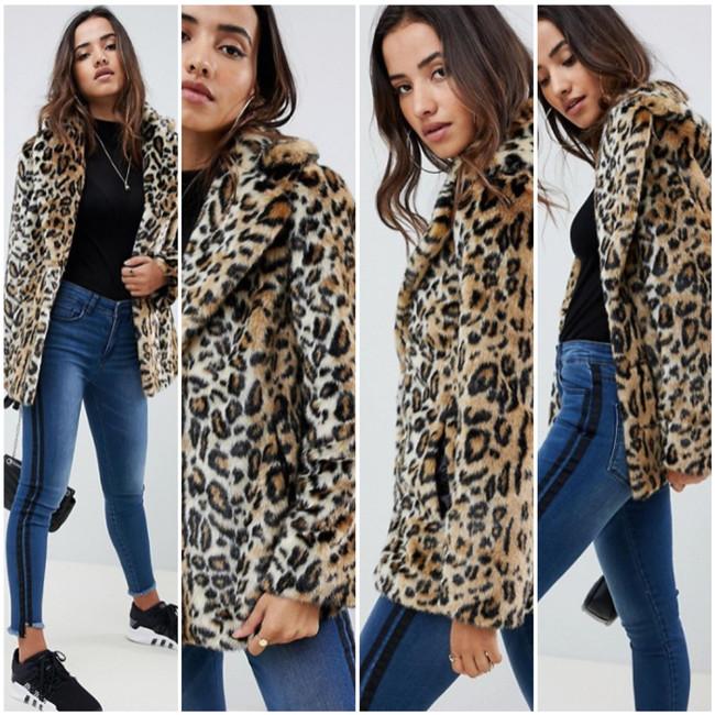Calentita y a la última con este abrigo de pelo animal print que puedes encontrar en ASOS con descuento