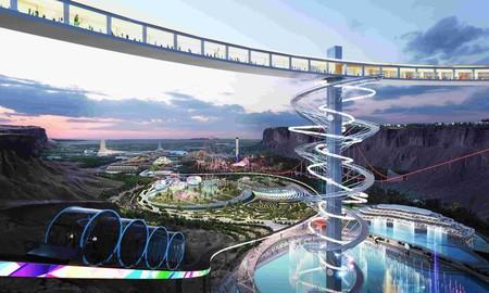 Neom, la ciudad futurista de 500.000 millones de dólares con siembra de nubes, robots, vigilancia con IA y hasta luna artificial