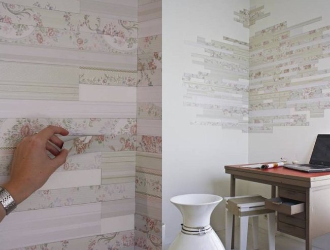 Una buena idea revestimientos magn ticos para la pared - Se puede poner papel pintado sobre gotele ...