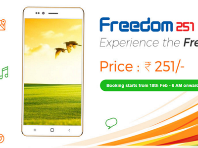 Freedom 251, un quad-core con Android 5.1 por 3,25 euros