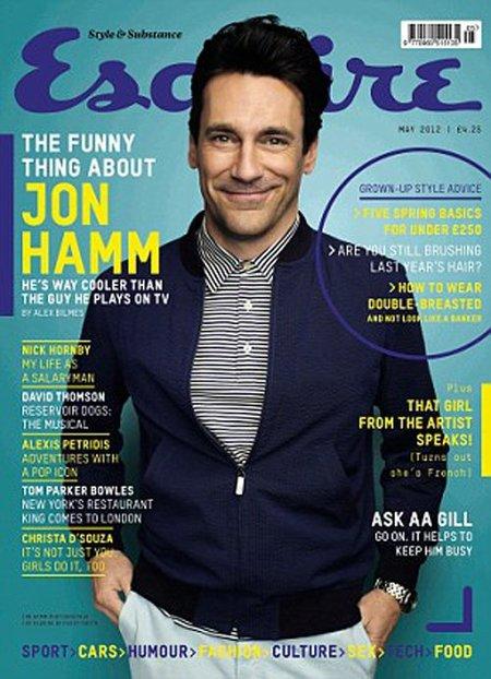 Jon Hamm no puede estar más jamonazo en Esquire... aunque él no piense lo mismo