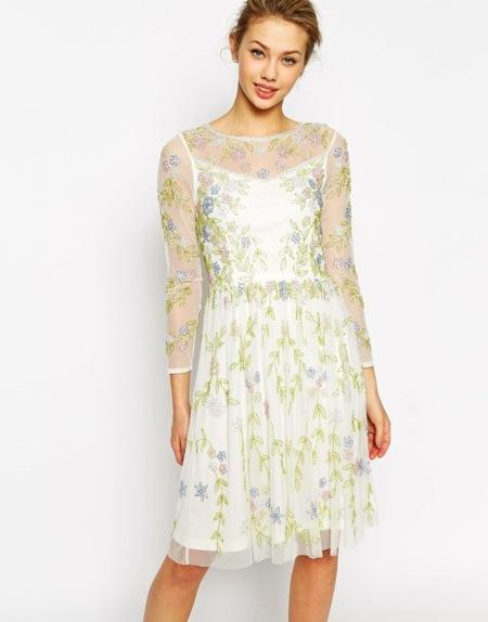 Vestidos de novia de colores cortos